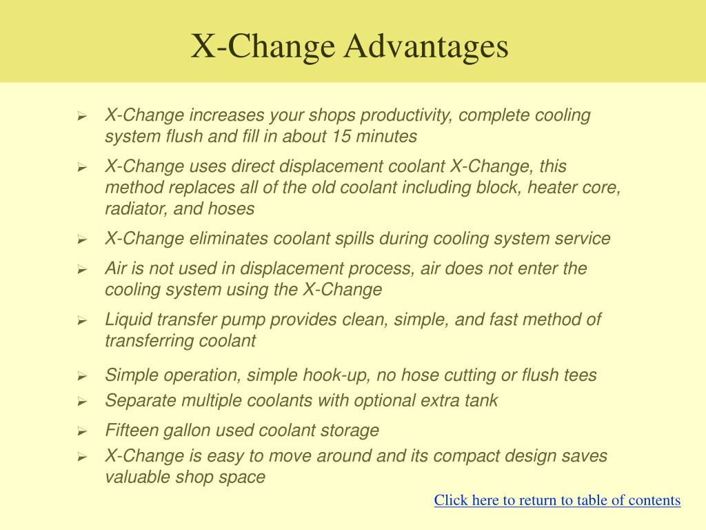 X-Change Advantages