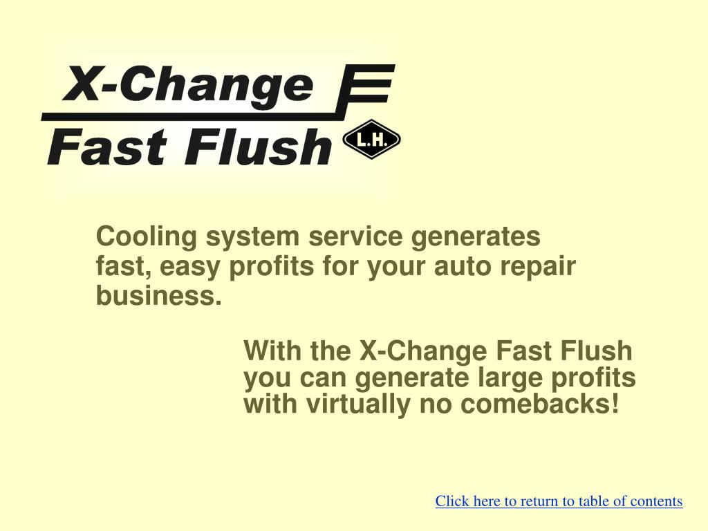 X-Change Fast Flush from Lujan USA