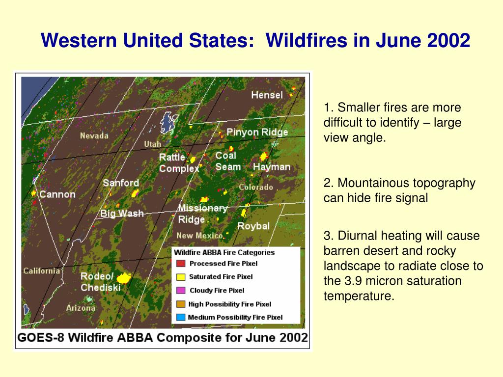Western United States:  Wildfires in June 2002