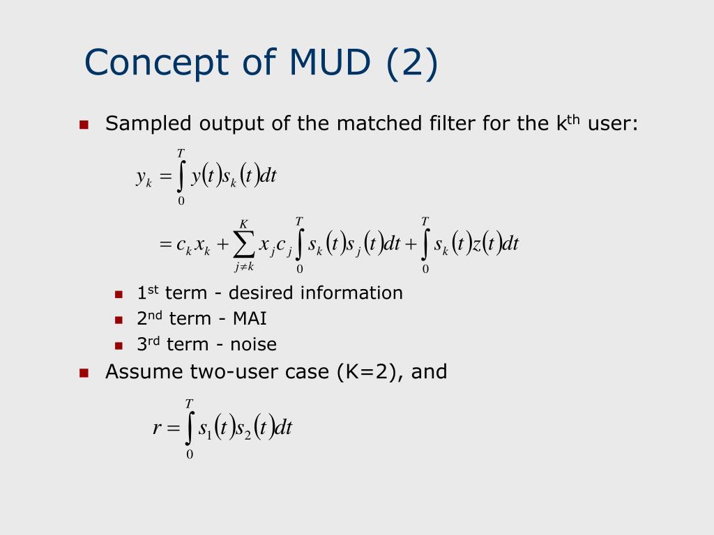 Concept of MUD (2)