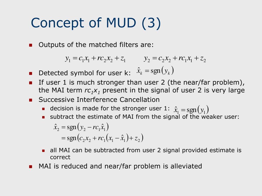 Concept of MUD (3)