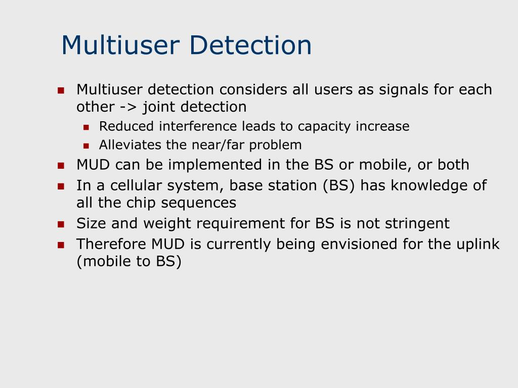 Multiuser Detection