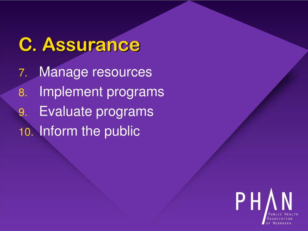 C. Assurance