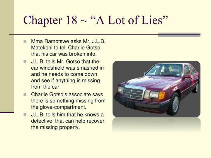 "Chapter 18 ~ ""A Lot of Lies"""