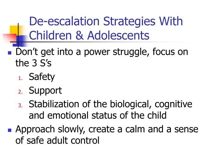 De-escalation Strategies With Children & Adolescents
