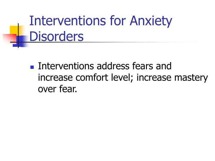 Interventions for Anxiety Disorders