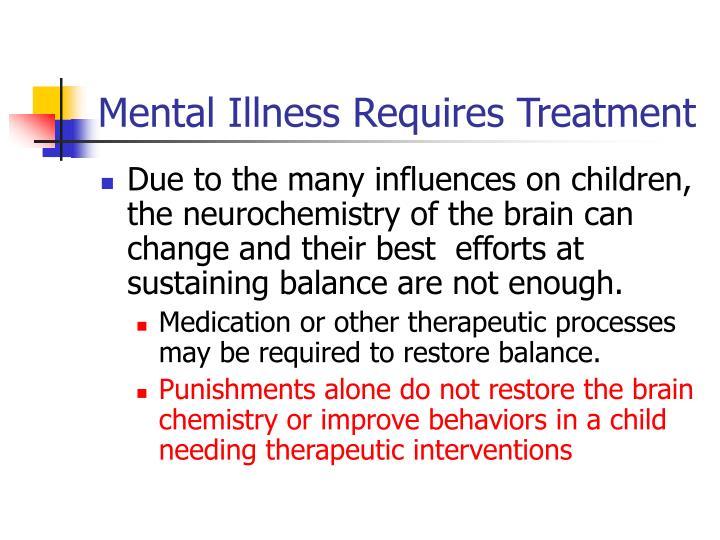 Mental Illness Requires Treatment
