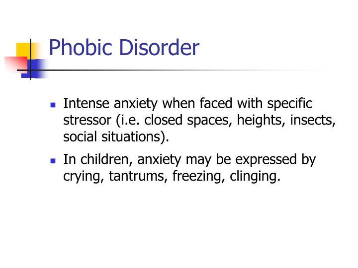 Phobic Disorder