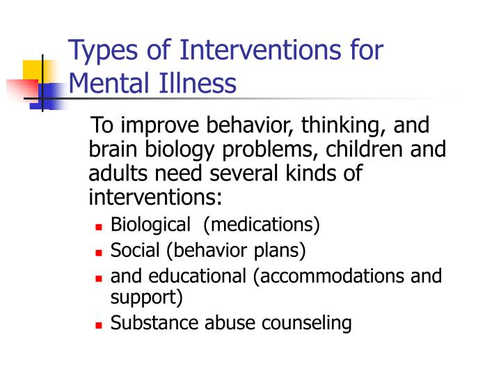 Types of Interventions for