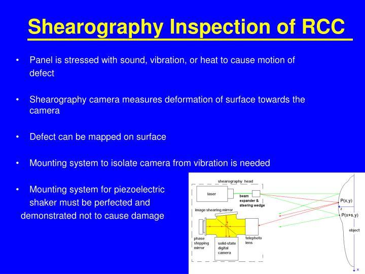 Shearography Inspection of RCC