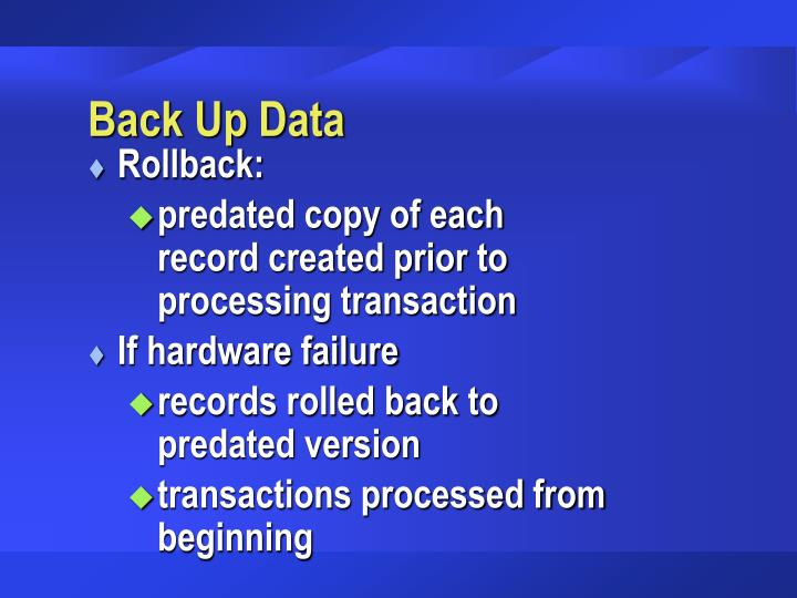 Back Up Data
