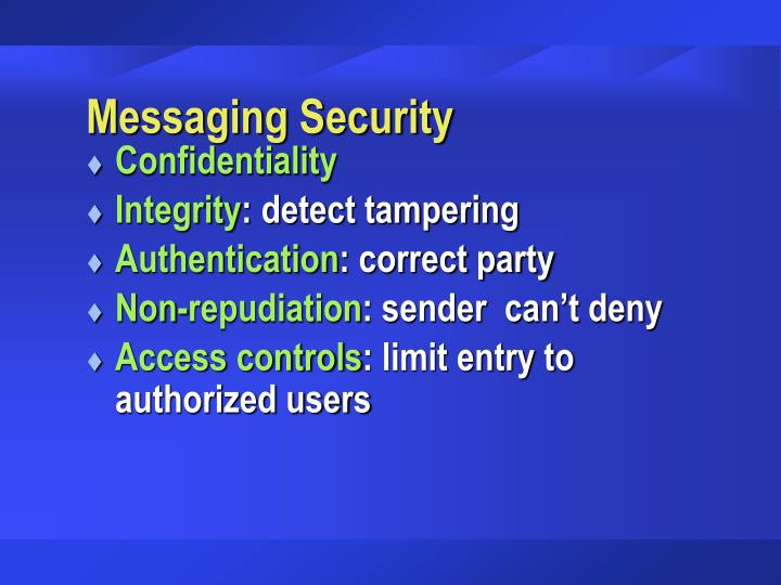 Messaging Security