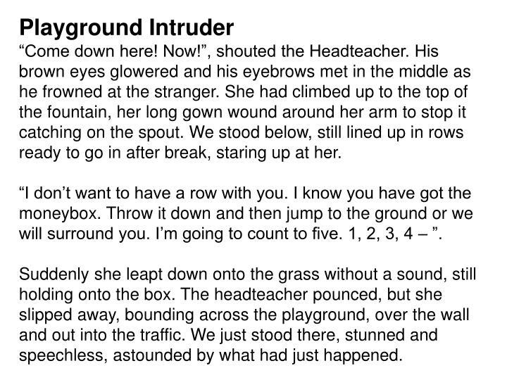 Playground Intruder