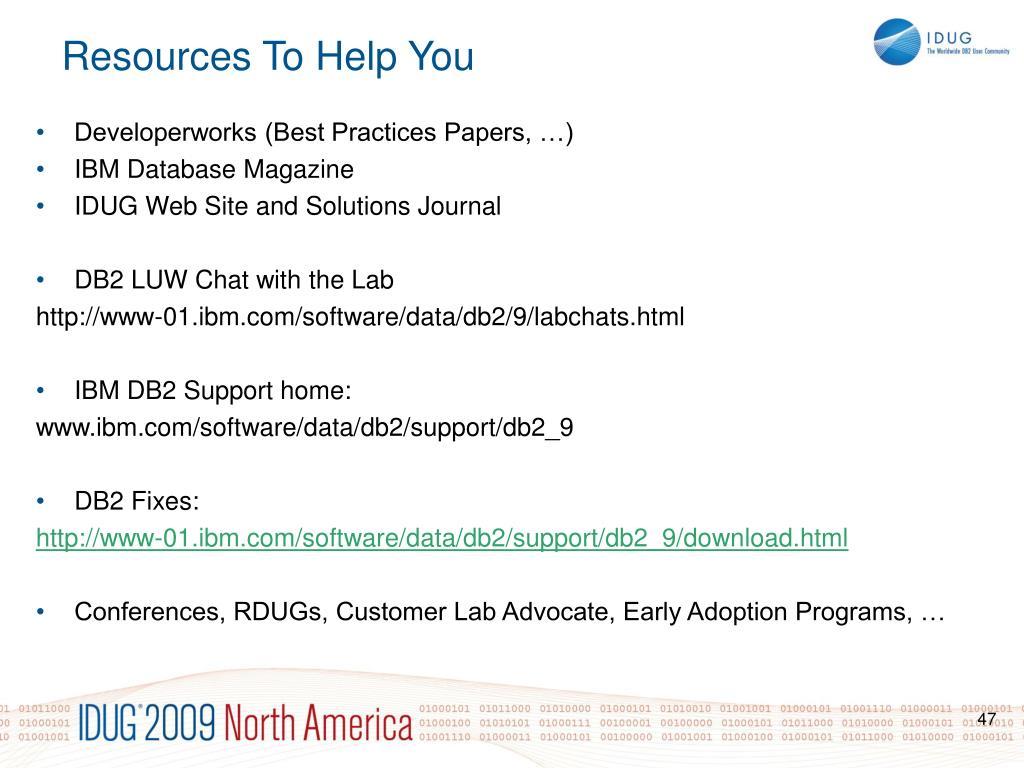 Developerworks (Best Practices Papers, …)