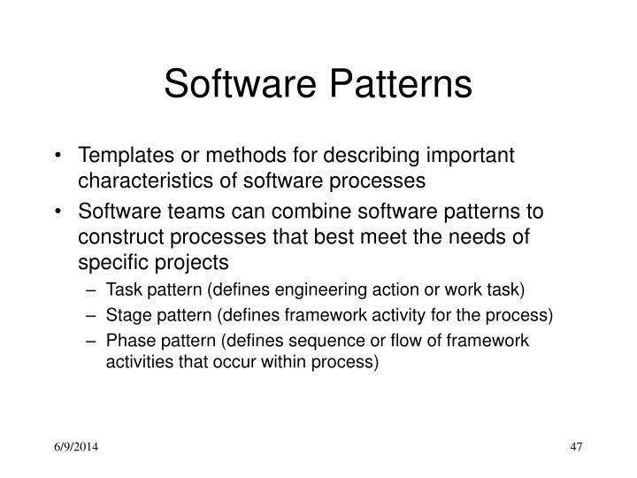 Software Patterns