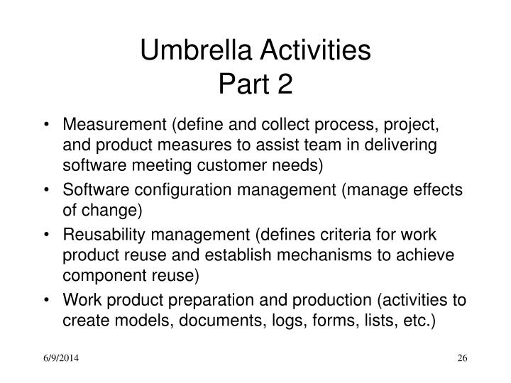Umbrella Activities
