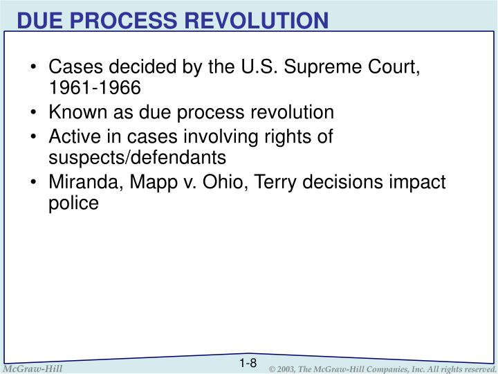 DUE PROCESS REVOLUTION