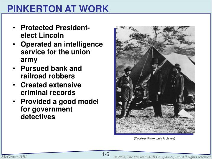 PINKERTON AT WORK