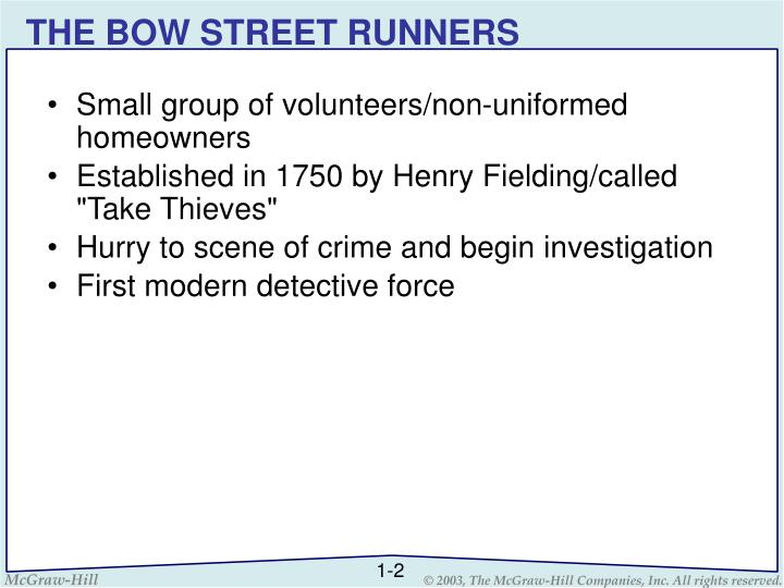 THE BOW STREET RUNNERS