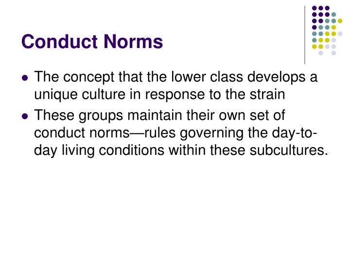 Conduct Norms
