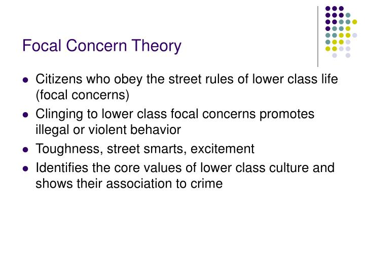 Focal Concern Theory