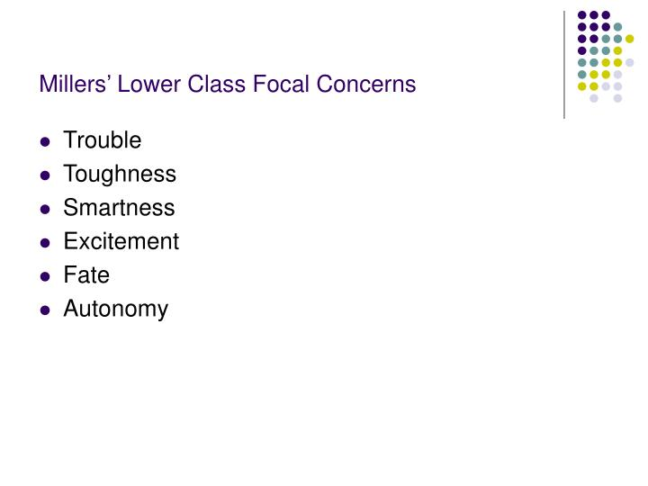 Millers' Lower Class Focal Concerns