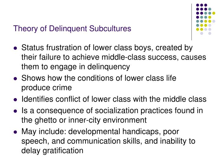 Theory of Delinquent Subcultures