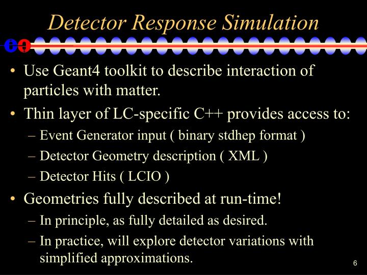 Detector Response Simulation