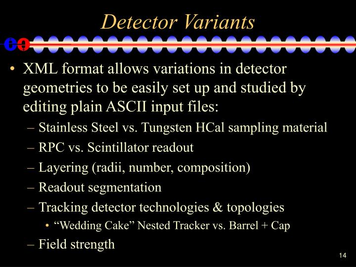 Detector Variants