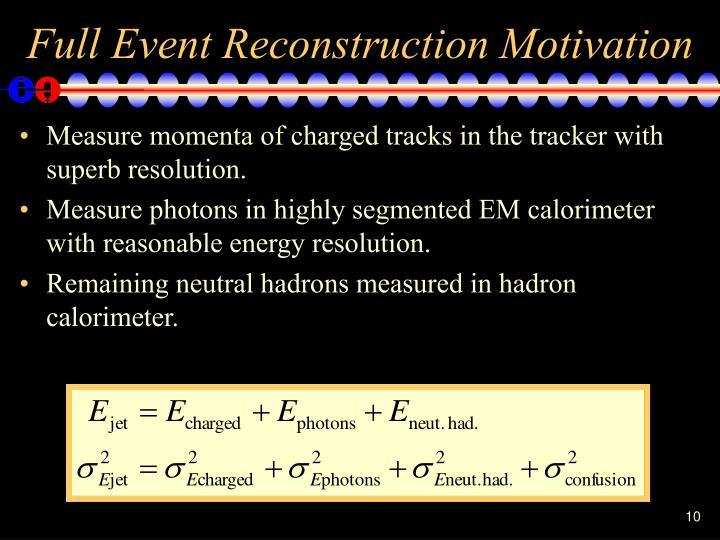 Full Event Reconstruction Motivation