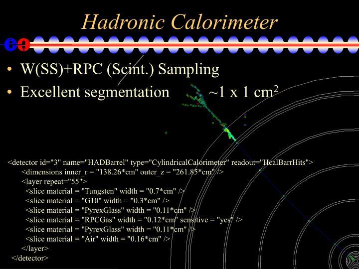 Hadronic Calorimeter