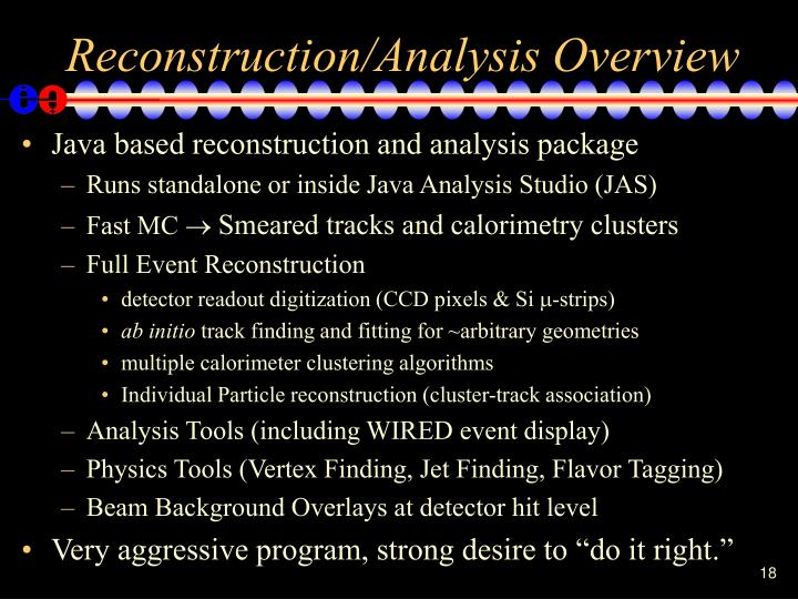 Reconstruction/Analysis Overview