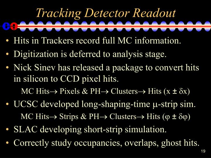 Tracking Detector Readout