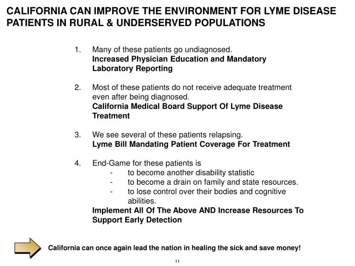 California can once again lead the nation in healing the sick and save money!