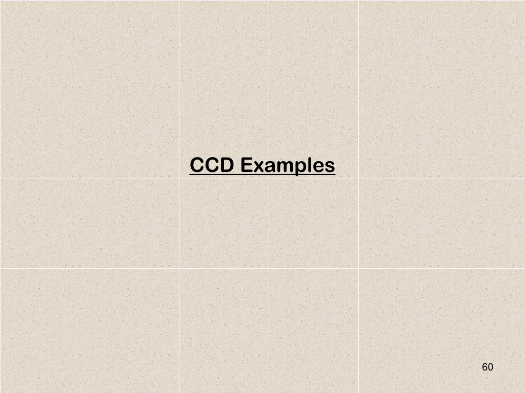 CCD Examples