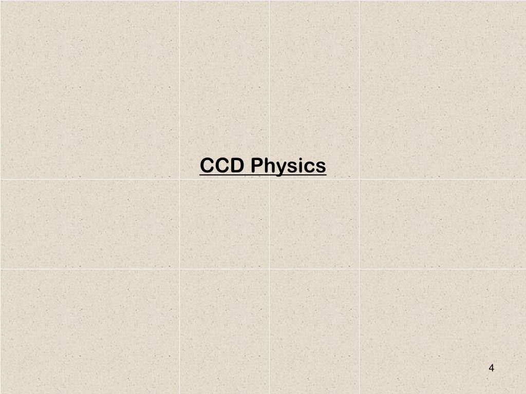 CCD Physics