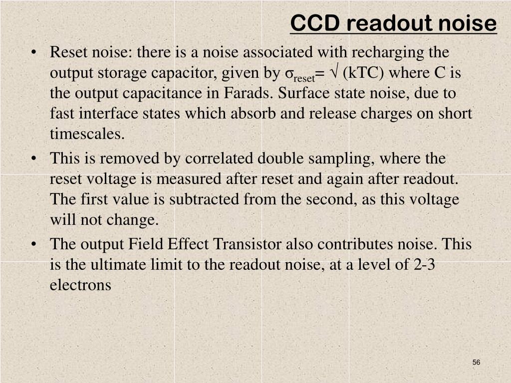 CCD readout noise