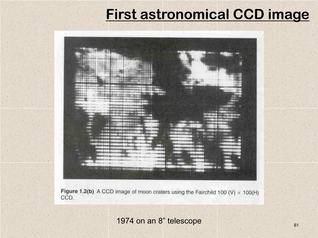 First astronomical CCD image