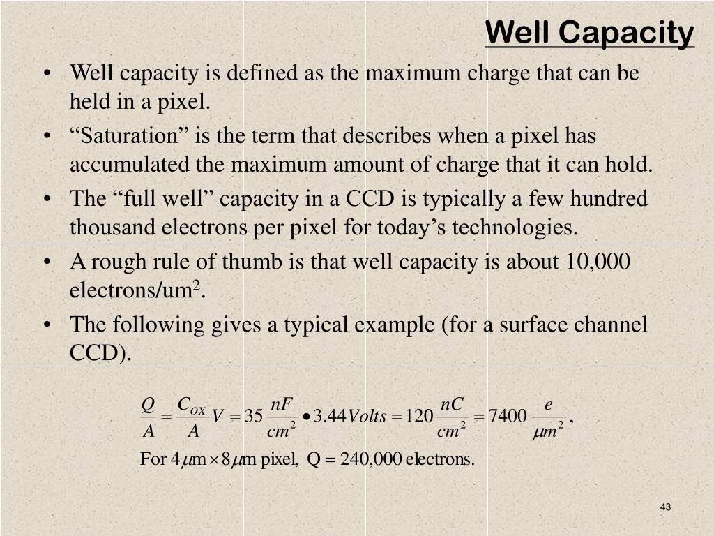 Well Capacity