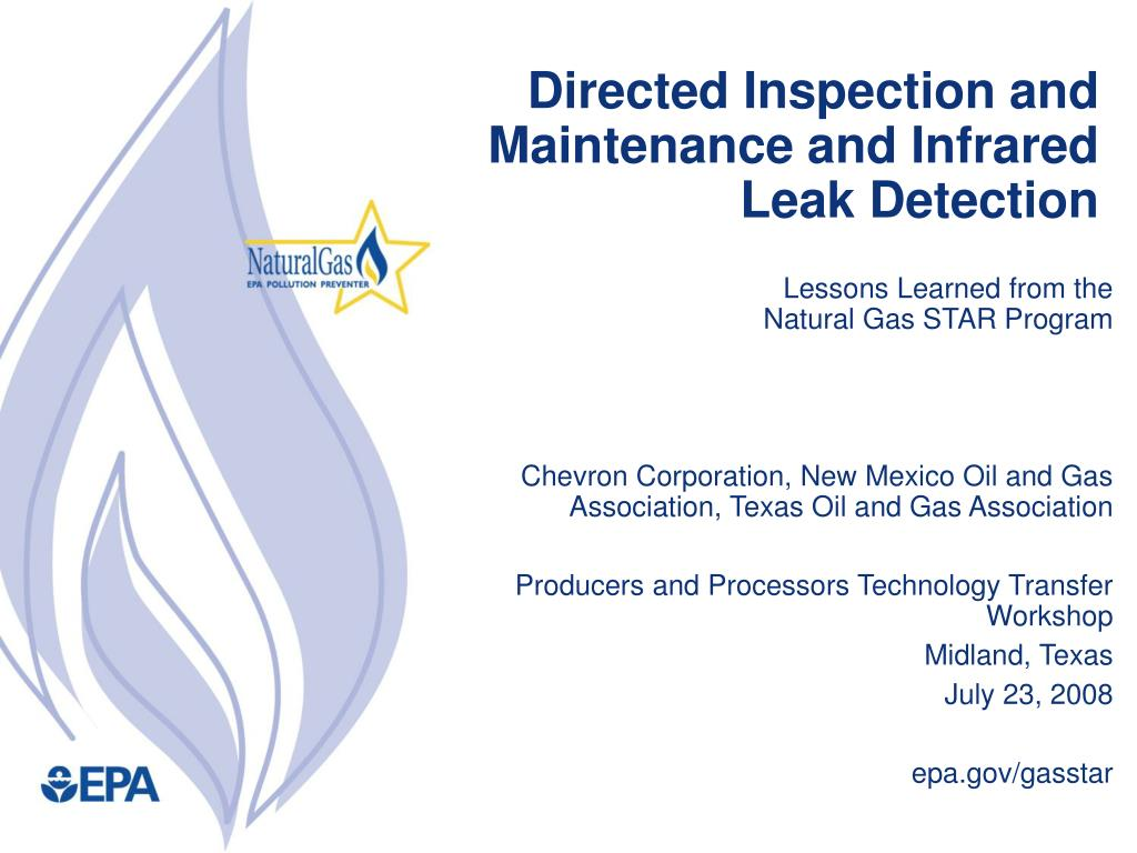 Directed Inspection and Maintenance and Infrared