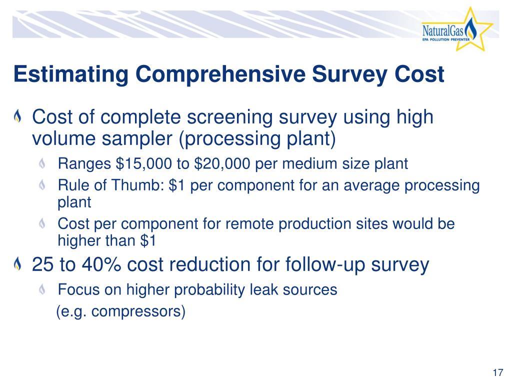 Estimating Comprehensive Survey Cost