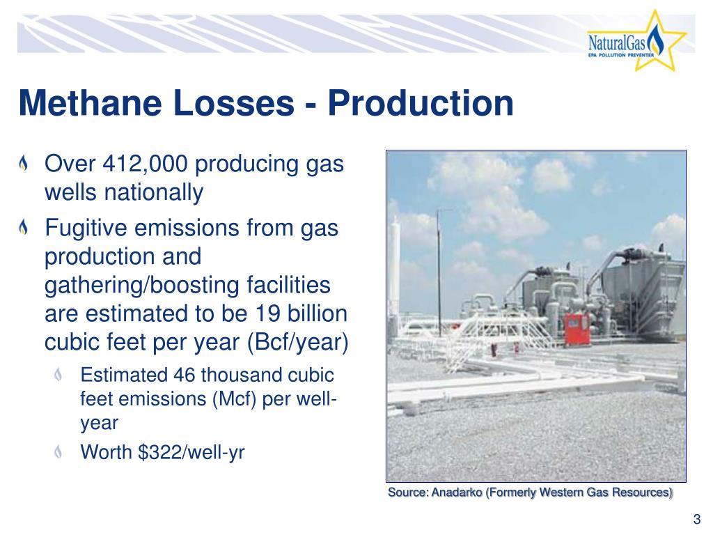 Methane Losses - Production