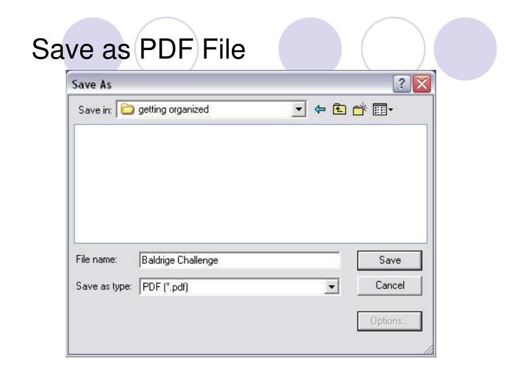Save as PDF File
