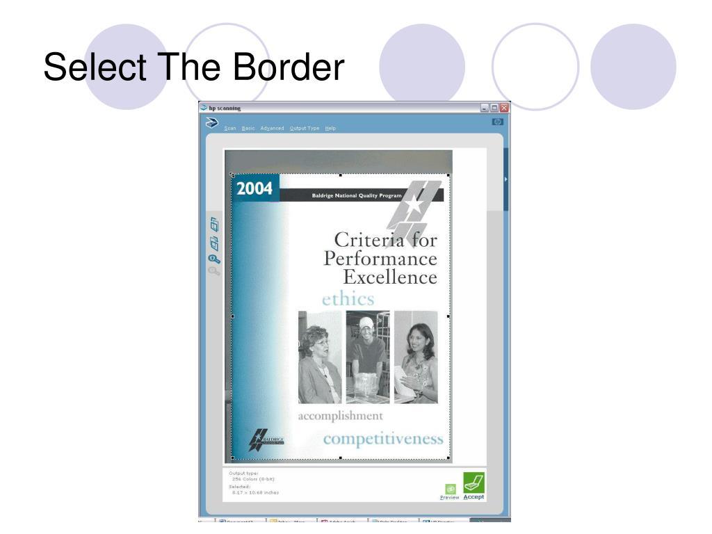 Select The Border