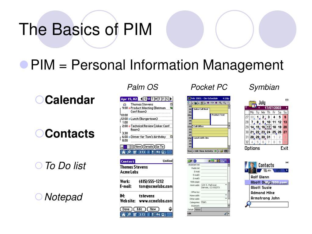 The Basics of PIM