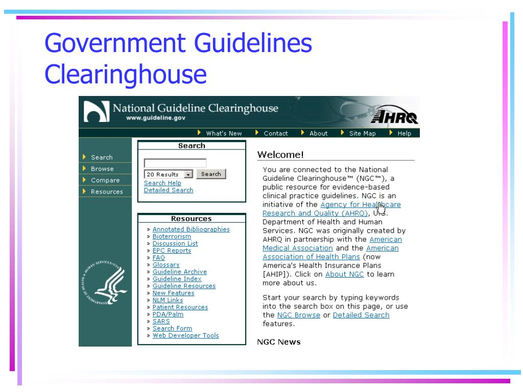 Government Guidelines Clearinghouse