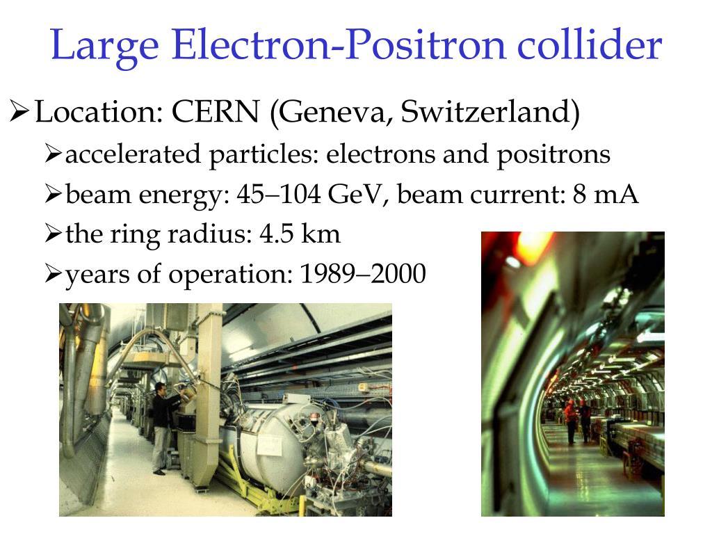 Large Electron-Positron collider