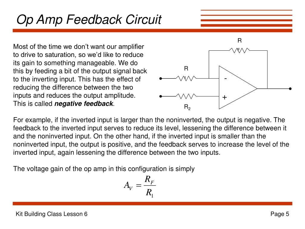Op Amp Feedback Circuit