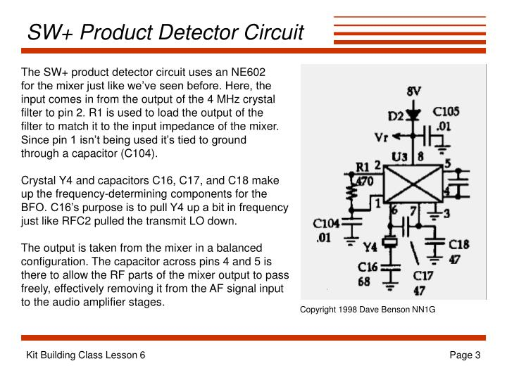 Sw product detector circuit