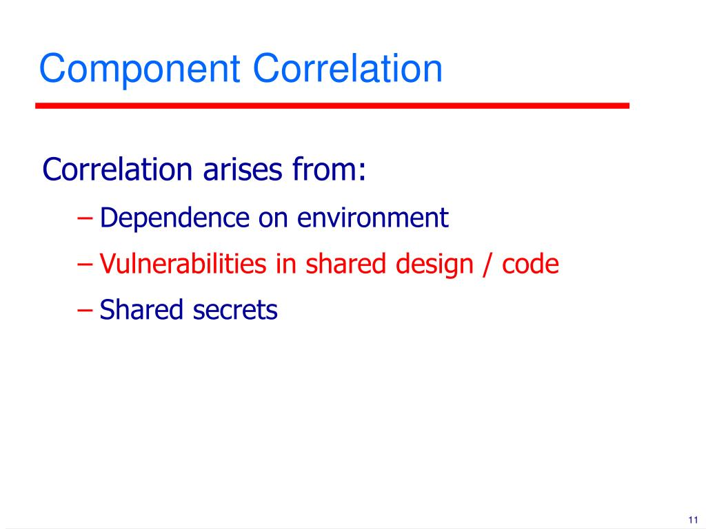 Component Correlation